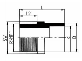 PP-H 承插管件 外螺纹管接头/ NPT螺纹
