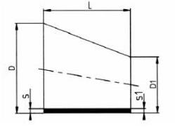 PP-H 对焊管件 偏心变径/短口