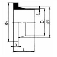 PP-H 对焊管件 法兰头德规/短口