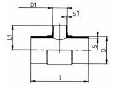 PP-H 对焊管件 变径三通/短口