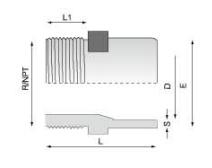 PVDF 对焊管件 外螺纹管接头