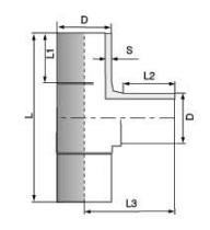 PVDF 对焊管件 三通