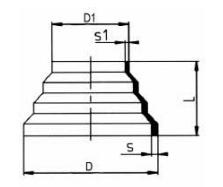 PP-H 对焊管件 同心变径/短口