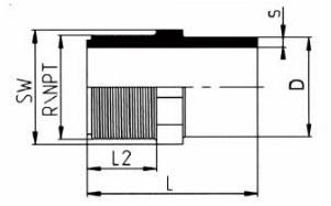 PP-H 对焊管件 外螺纹管接头/右旋螺纹/NPT螺纹