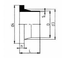 PVDF 对焊管件 法兰头/短口