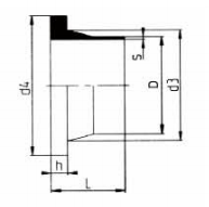 PP-H 对焊管件 法兰头美规/短口