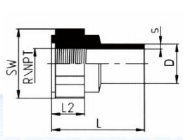 PP-H 对焊管件 内螺纹管接头/NPT螺纹